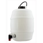 2 Gal White Barrel with Vent Cap