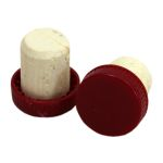 Plastic Top Flanged Cork's Red  (100's)