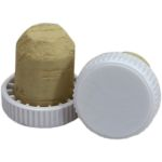 Plastic Top Flanged Cork's White   (30's)